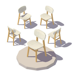 isometric designer chair vector image vector image