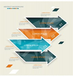 Modern arrows template style vector image