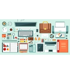 office set 1 vector image