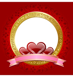 valentines day plaque vector image