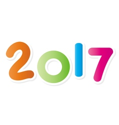 2017 New Year symbol colorful isolated vector image vector image