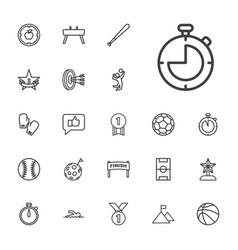 22 competition icons vector