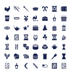 49 traditional icons vector