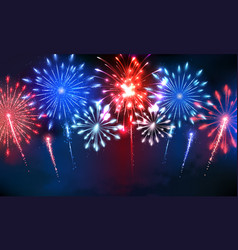 4th july colorful firework vector image