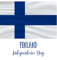6 december finland independence day vector image