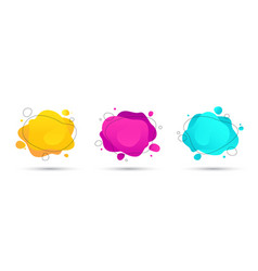 abstract colorful fluid liquid shapes set vector image