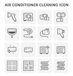 Air conditioner cleaning vector