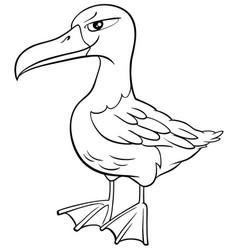 Albatross bird animal character cartoon coloring vector