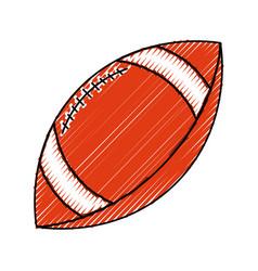American football sport ball vector