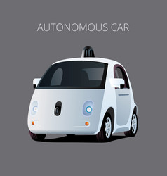 autonomous driverless self-driving electric ec vector image
