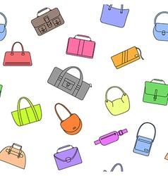 bag purse seamless pattern vector image