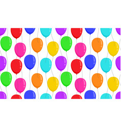 balloons seamless pattern different colors on vector image