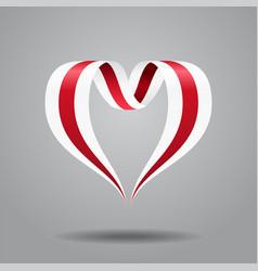 Belarusian flag heart-shaped ribbon vector