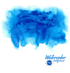 Blue watercolor background vector
