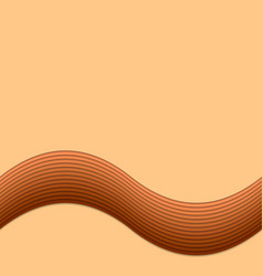 Brown wavy background from layer stripes vector