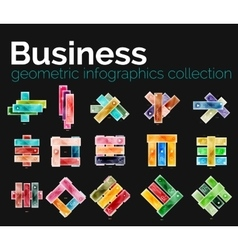 Business infographics collection - glossy stripes vector