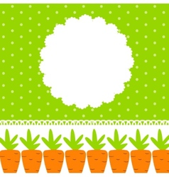 Carrot Cute Frame vector image