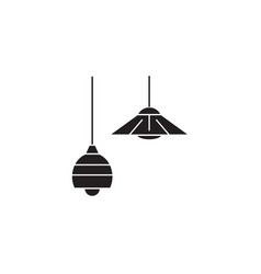 ceiling lamps black concept icon ceiling vector image