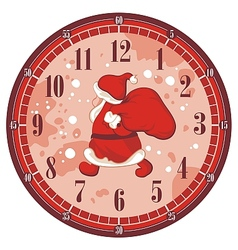 Christmas Clock Face vector