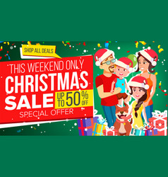 christmas sale banner special offer vector image