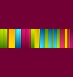 colorful stripes abstract modern banner vector image