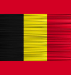 concept belgian flag black yellow red vector image