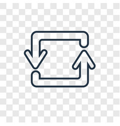 Counter arrow concept linear icon isolated on vector