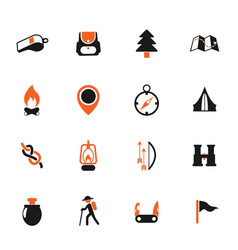 Day of scouts color icon set vector