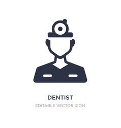 dentist icon on white background simple element vector image