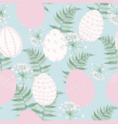 easter seamless pattern for wrapping paper vector image
