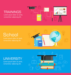 education distance online and academic school vector image