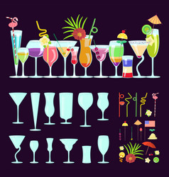 Exotic cocktail drink creator vector