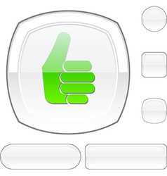 Good white button vector image