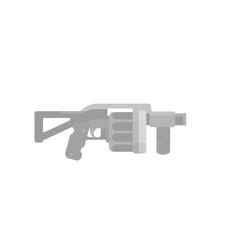 Grenade launcher on white assault firearm vector