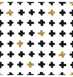 Hand Drawn Cross Shapes Seamless Pattern vector image