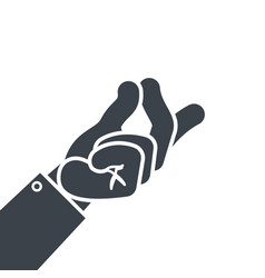 Hand gesture finger snap icon vector