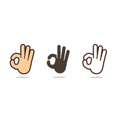 hand language ok sign cartoon graphic vector image