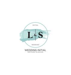 Initial ls letter beauty logo handwriting vector