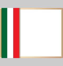 italian flag symbolism frame border vector image