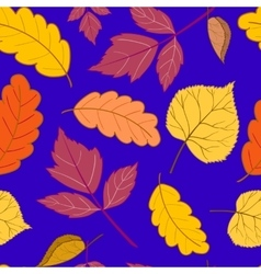 Leaves on a dark blue vector