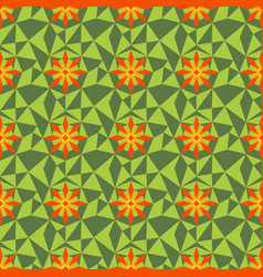 Low poly flower pattern vector