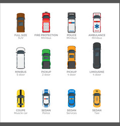 Means transportations collection on white vector