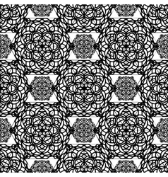 Oriental floral pattern in decorative style vector image