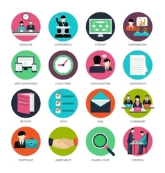 Project Management Icons vector