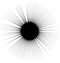 Radial lines rays with distortion abstract vector