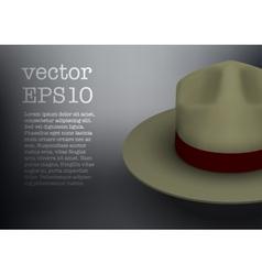 Ranger hat khaki green color vector image