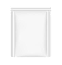 rectangular sachet mockup isolated vector image