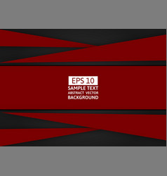 red and black geometric abstract background with vector image