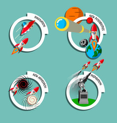 rocket business flat art style vector image