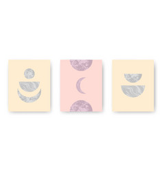 set with trendy set printable cards with boho vector image